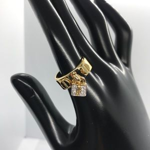 New Juicy Couture Padlock Pave Ring